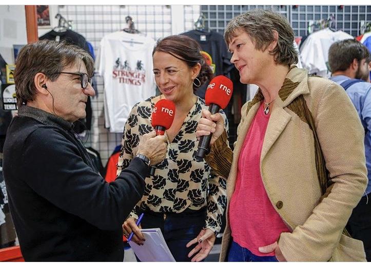 Concha Ortiz con Lene Berg y Javier Tolentino _The False Belief